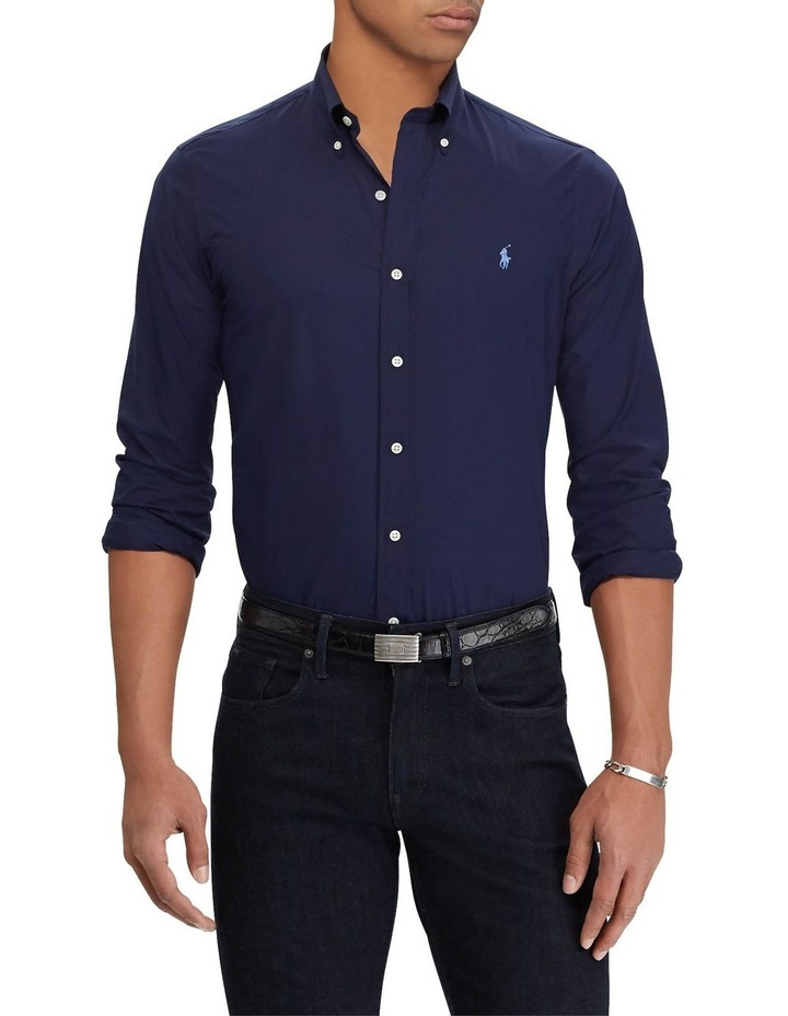 Classic Fit Poplin Long Sleeve Shirt image 1