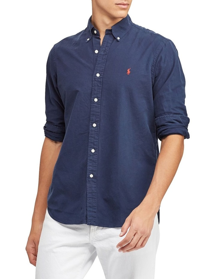 Slim Fit Oxford Long Sleeve Shirt image 1