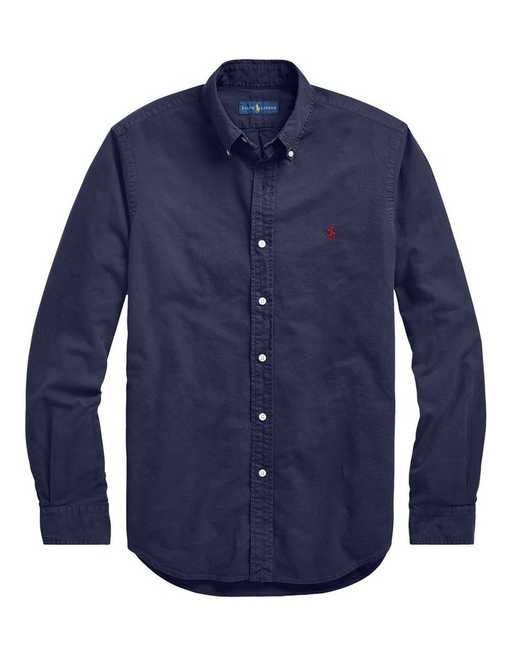 Slim Fit Oxford Long Sleeve Shirt image 4