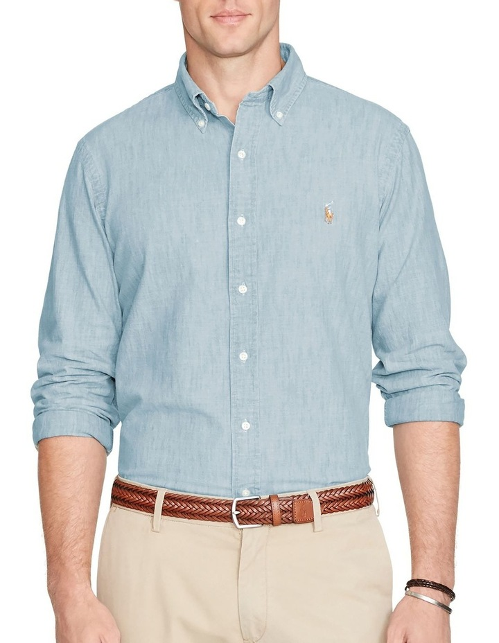 Classic Fit Chambray Long Sleeve Shirt image 1