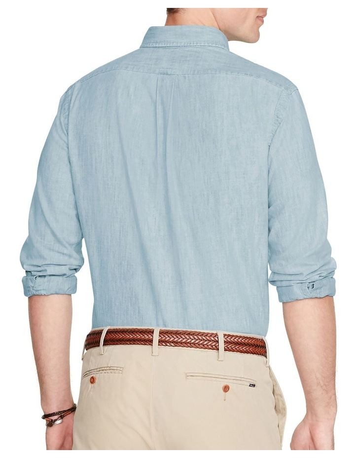 Classic Fit Chambray Long Sleeve Shirt image 2