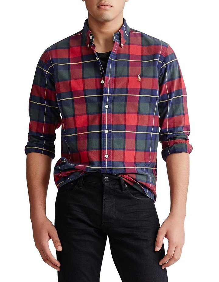 Men Ralph Lauren Polo Pony Tartan Plaid Oxford Long Sleeves Classic Dress Shirt