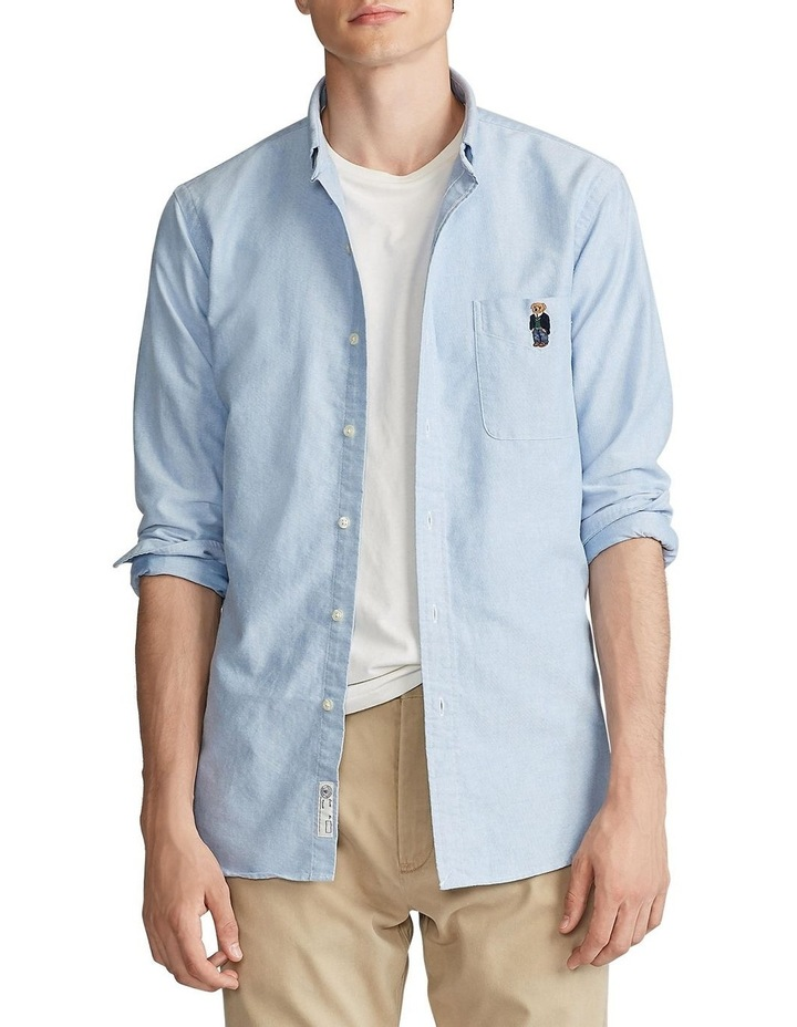 Classic Fit Bear Oxford Shirt image 1