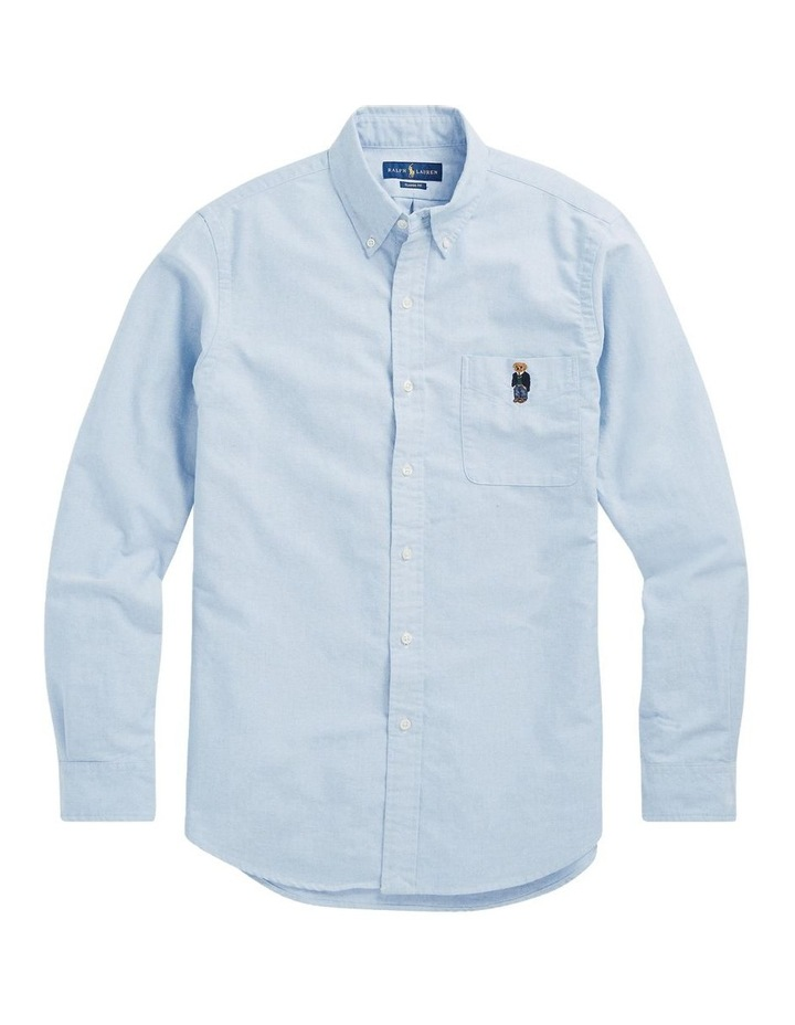 Classic Fit Bear Oxford Shirt image 4