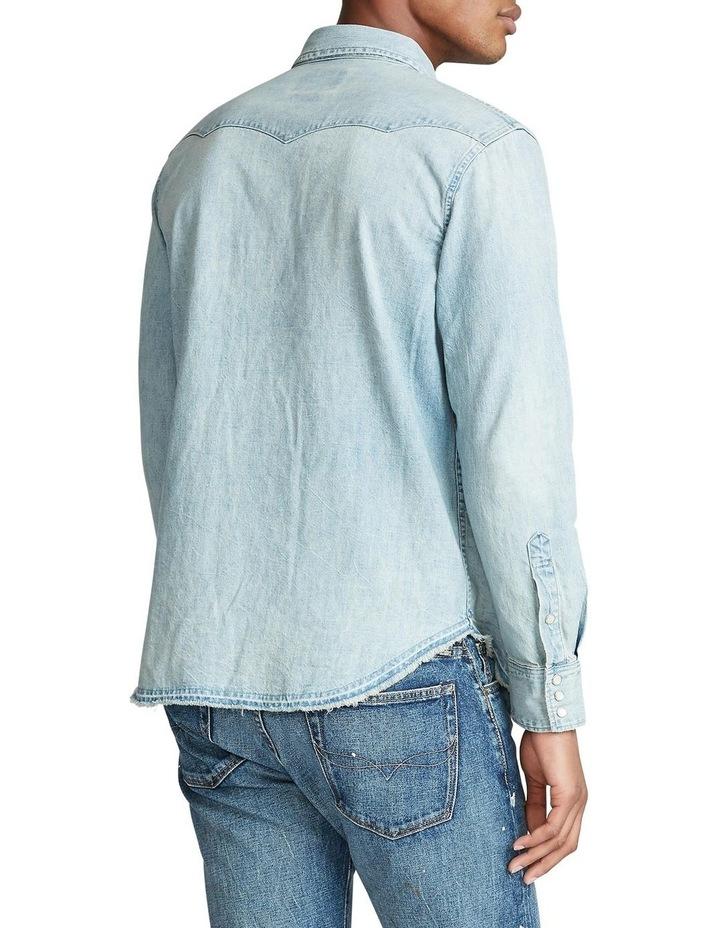Classic Fit Cotton Denim Long Sleeve Shirt image 2