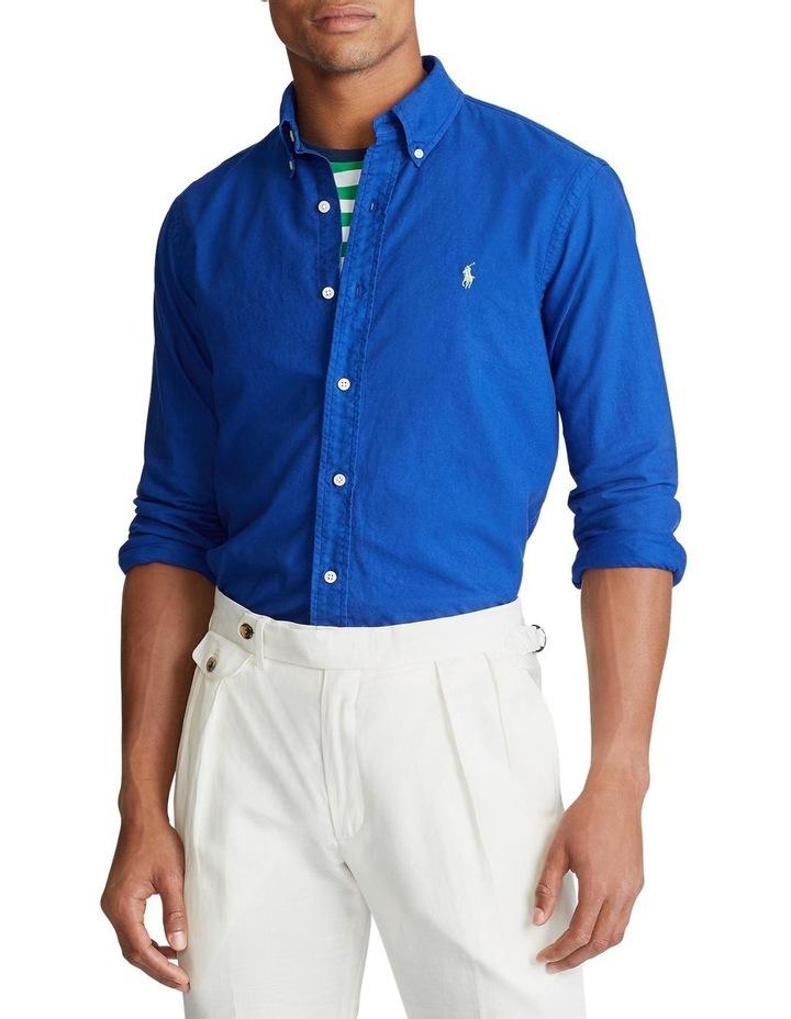 Garment-Dyed Oxford Long Sleeve Shirt image 1