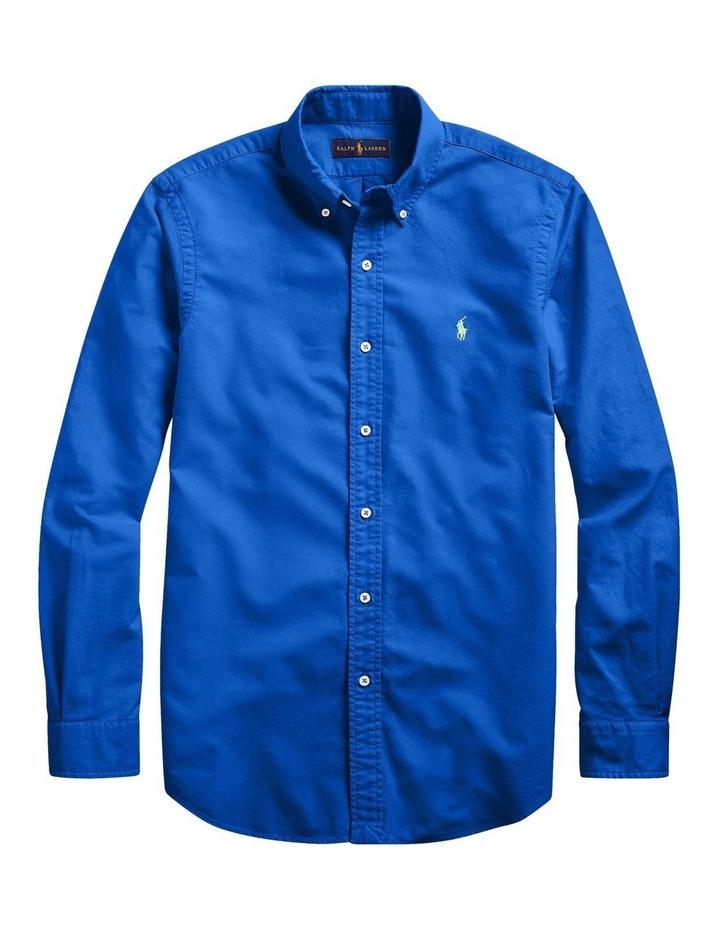 Garment-Dyed Oxford Long Sleeve Shirt image 4