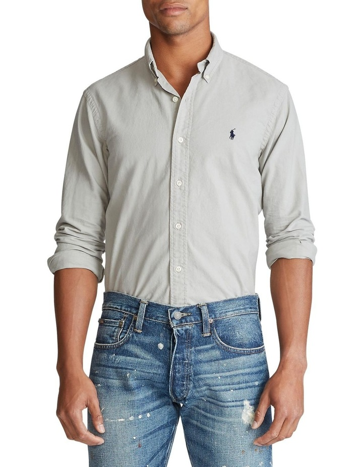 Garment-Dyed Oxford Long Sleeve Shirt image 1