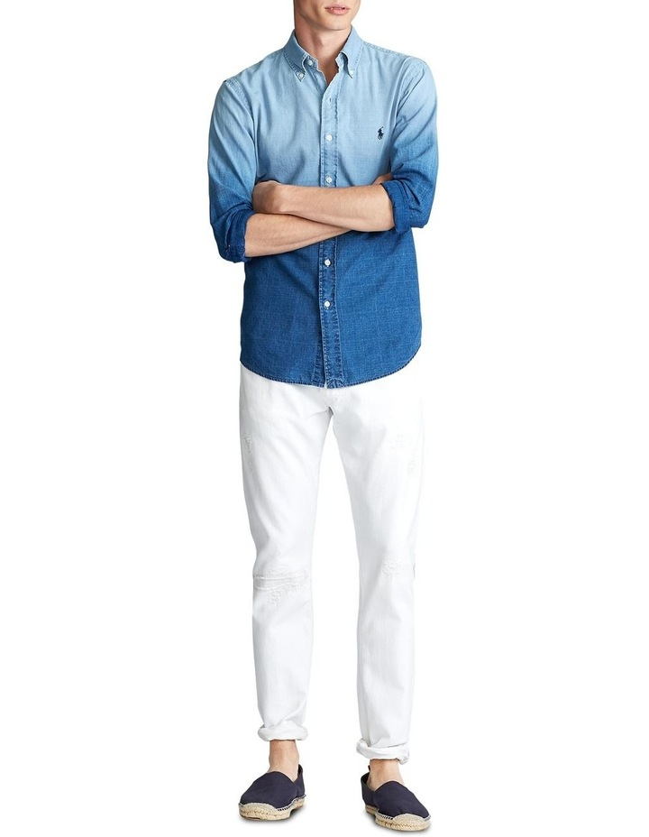 Classic Fit Dip-Dyed Long Sleeve Shirt image 3