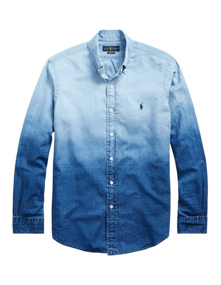 Classic Fit Dip-Dyed Long Sleeve Shirt image 4