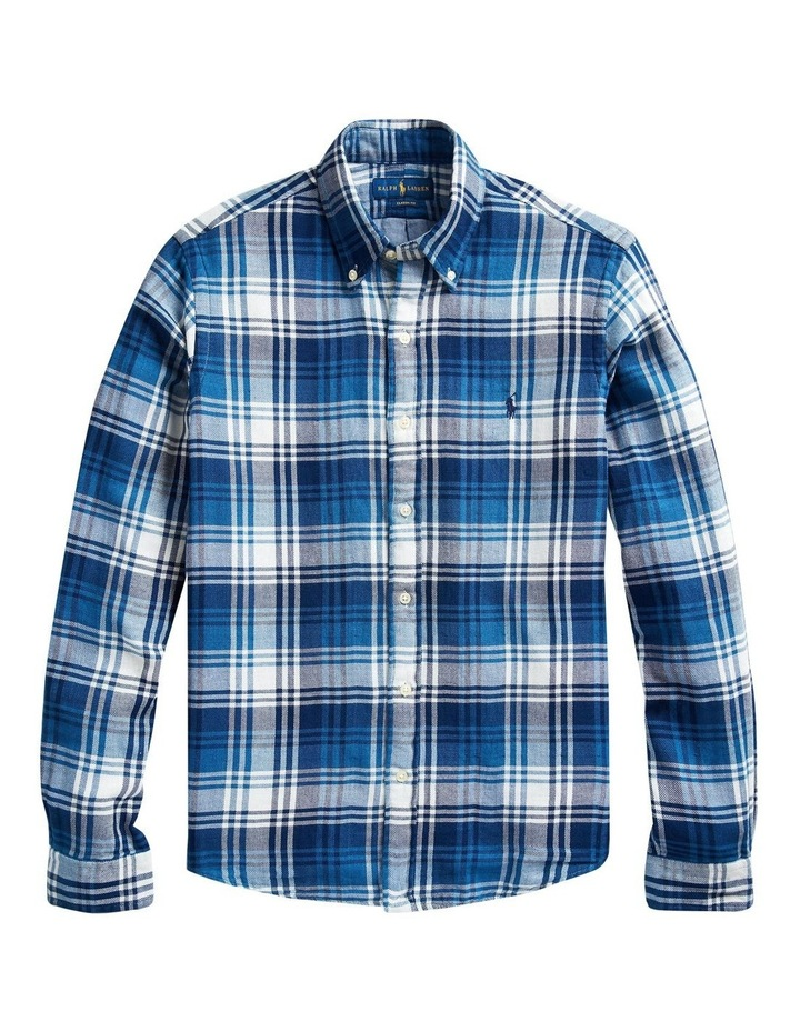 Classic Fit Plaid Long Sleeve Shirt image 4
