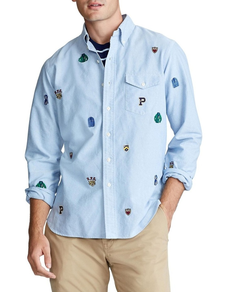 Classic Fit Embroidered Long Sleeve Shirt image 1