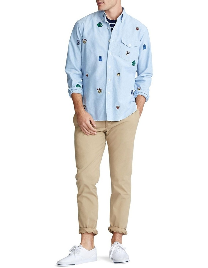 Classic Fit Embroidered Long Sleeve Shirt image 3