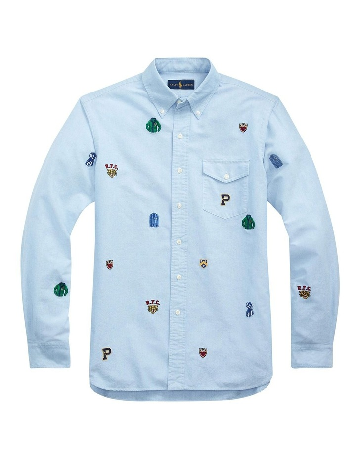 Classic Fit Embroidered Long Sleeve Shirt image 4