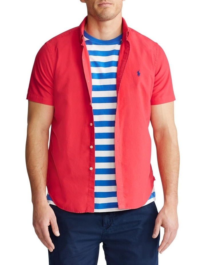 Slim Fit Oxford Short Sleeve Shirt image 1