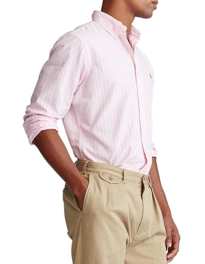 Custom Fit Striped Long Sleeve Shirt image 1