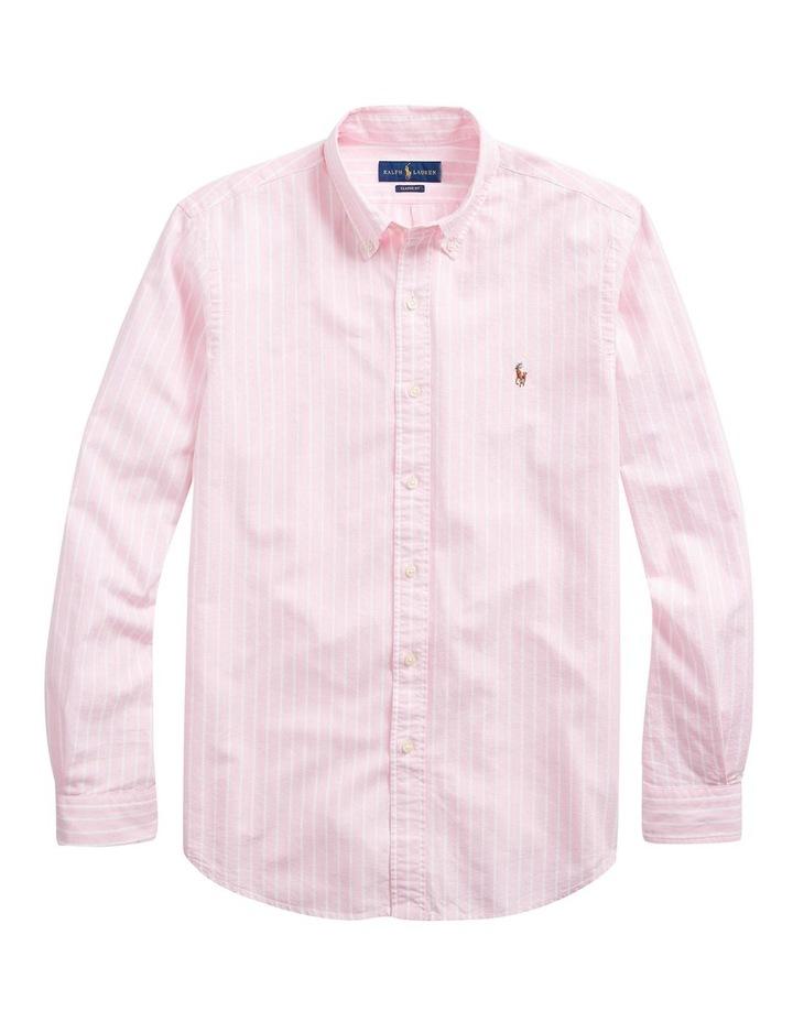 Custom Fit Striped Long Sleeve Shirt image 4