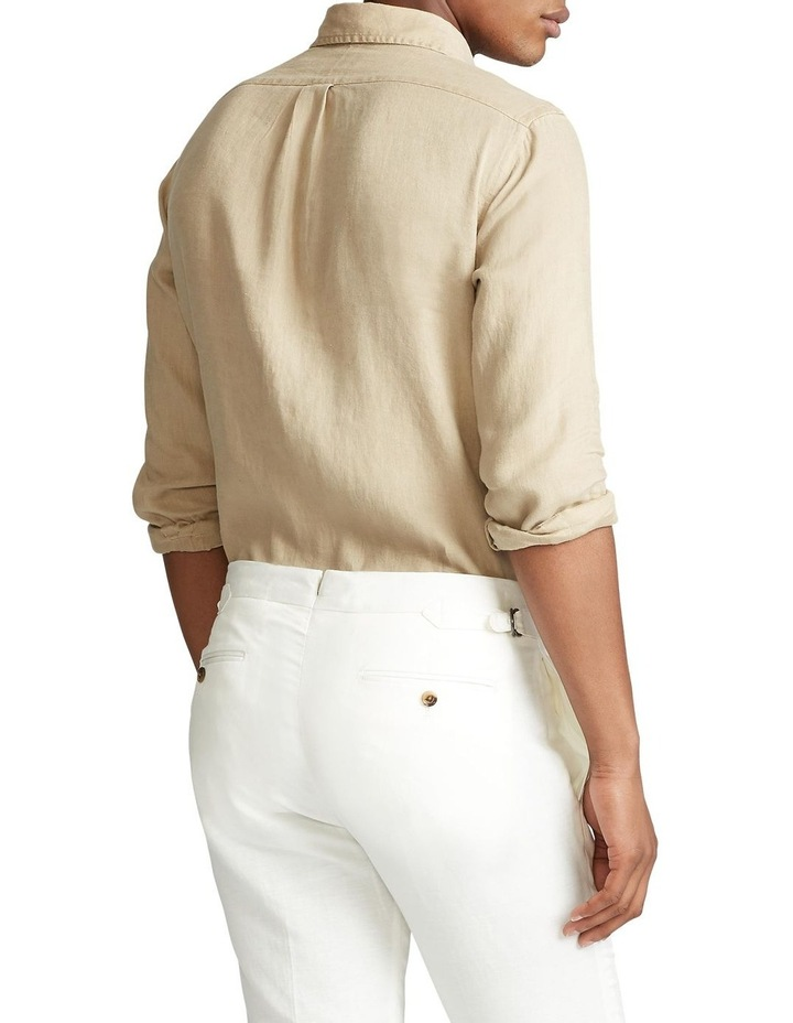 Classic Fit Linen Long Sleeve Shirt image 2
