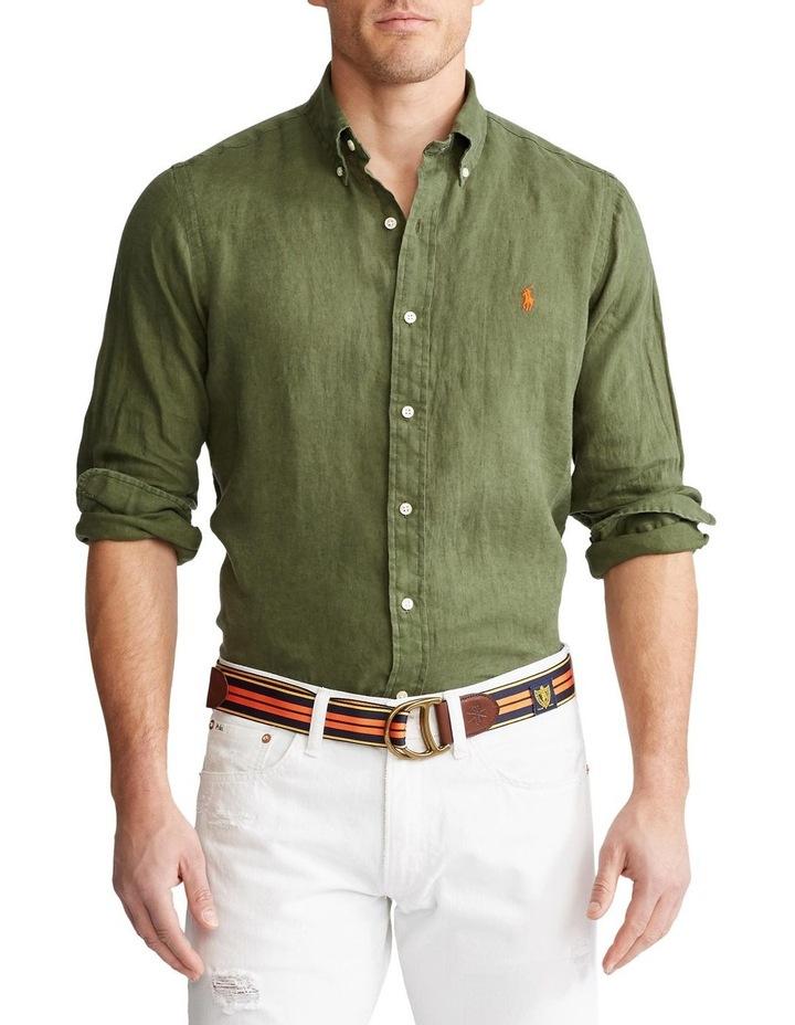 Classic Fit Linen Long Sleeve Shirt image 1