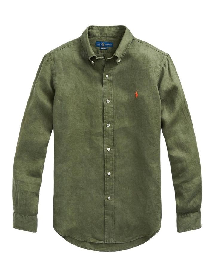 Classic Fit Linen Long Sleeve Shirt image 4
