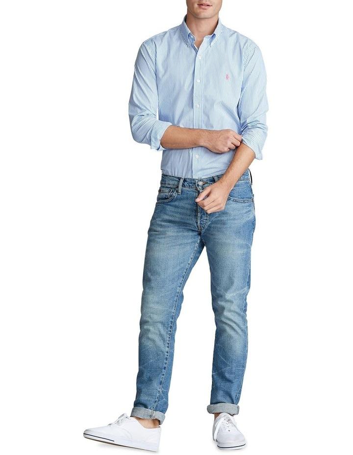 Slim Fit Striped Poplin Long Sleeve Shirt image 3