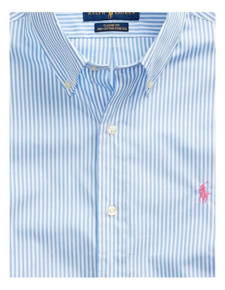 Slim Fit Striped Poplin Long Sleeve Shirt image 5