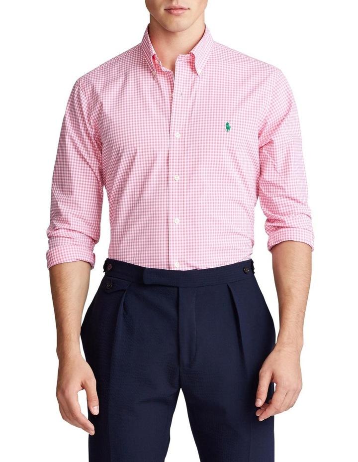 Slim Fit Plaid Poplin Long Sleeve Shirt image 1