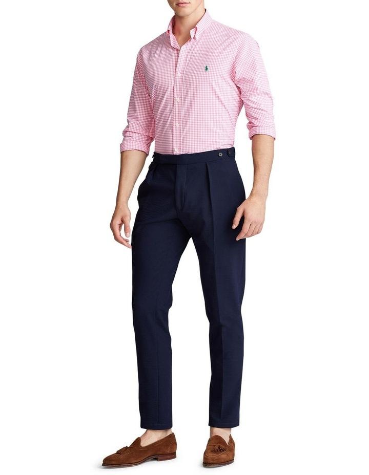 Slim Fit Plaid Poplin Long Sleeve Shirt image 3