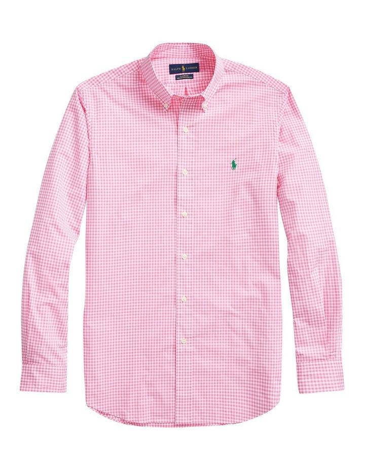 Slim Fit Plaid Poplin Long Sleeve Shirt image 4