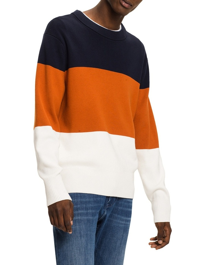 Block Striped Relaxed Fit Sweater image 1