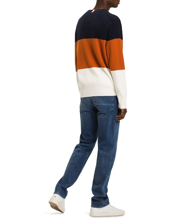 Block Striped Relaxed Fit Sweater image 2
