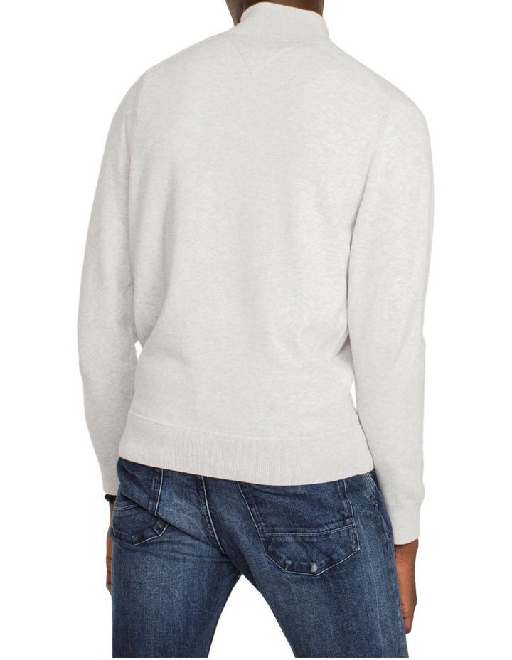 Compact Cotton Zip Mock Neck Knit image 2