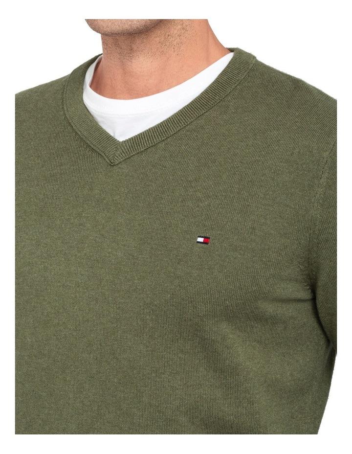 Pima Cotton Cashmere Vneck Knit image 3