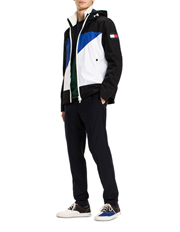 Tommy Hilfiger - Hooded Jacket With Flag On Front