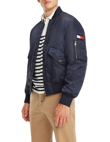 c6f01bd513a Tommy HilfigerSignature Tape Bomber Jacket. Tommy Hilfiger Signature Tape  Bomber Jacket