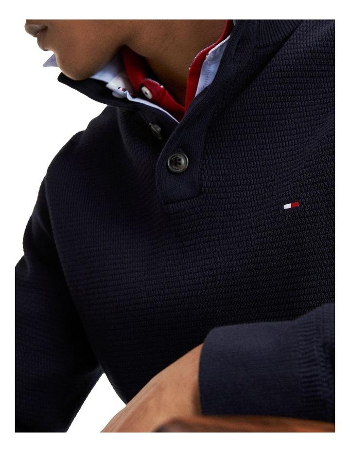 Buttoned High Neck Jumper image 3