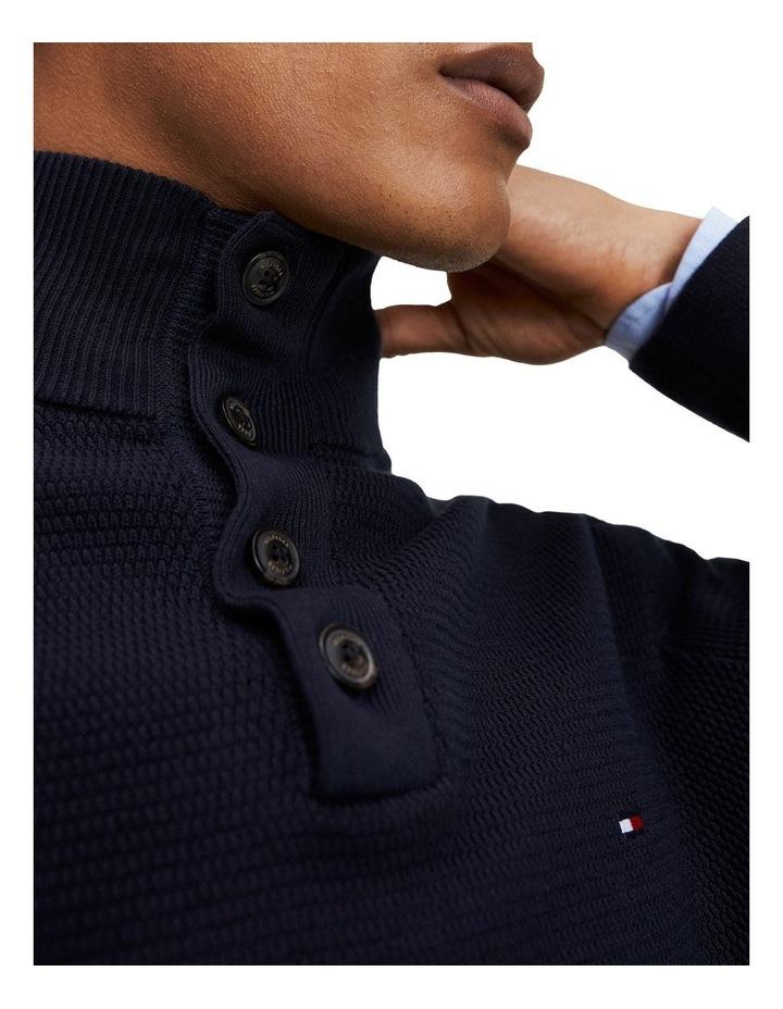 Buttoned High Neck Jumper image 5
