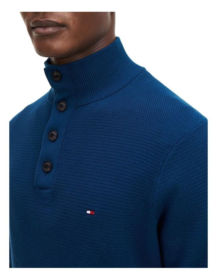 Buttoned High Neck Jumper image 2