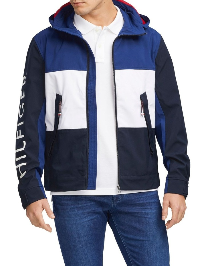 Flex Colour Block Hooded Blouson Jacket image 1