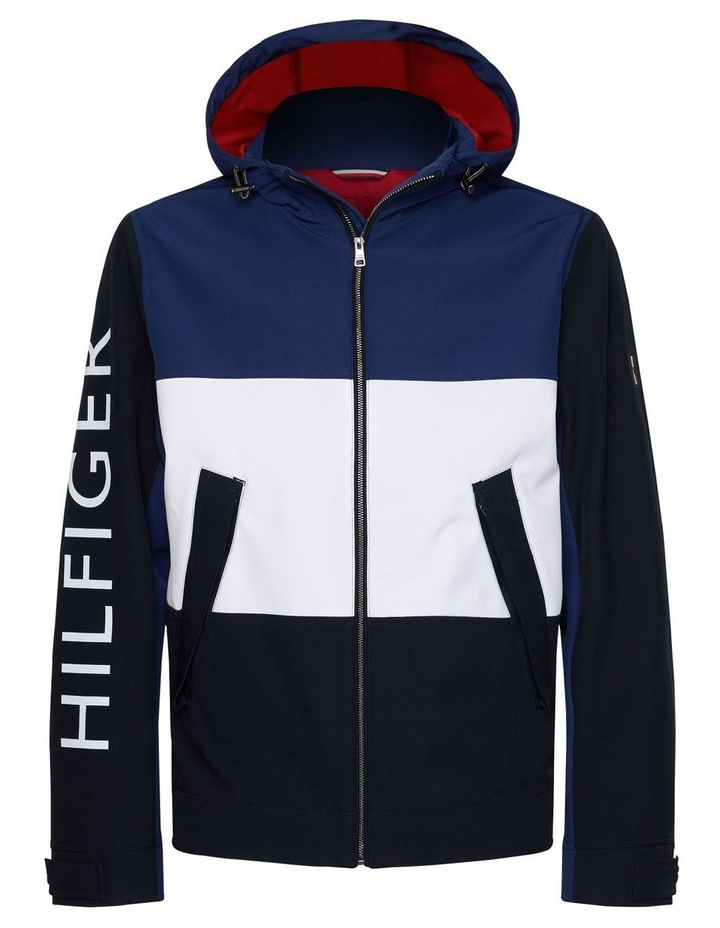 Flex Colour Block Hooded Blouson Jacket image 4