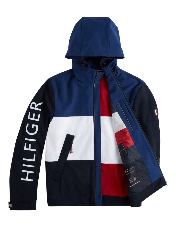 Flex Colour Block Hooded Blouson Jacket image 6