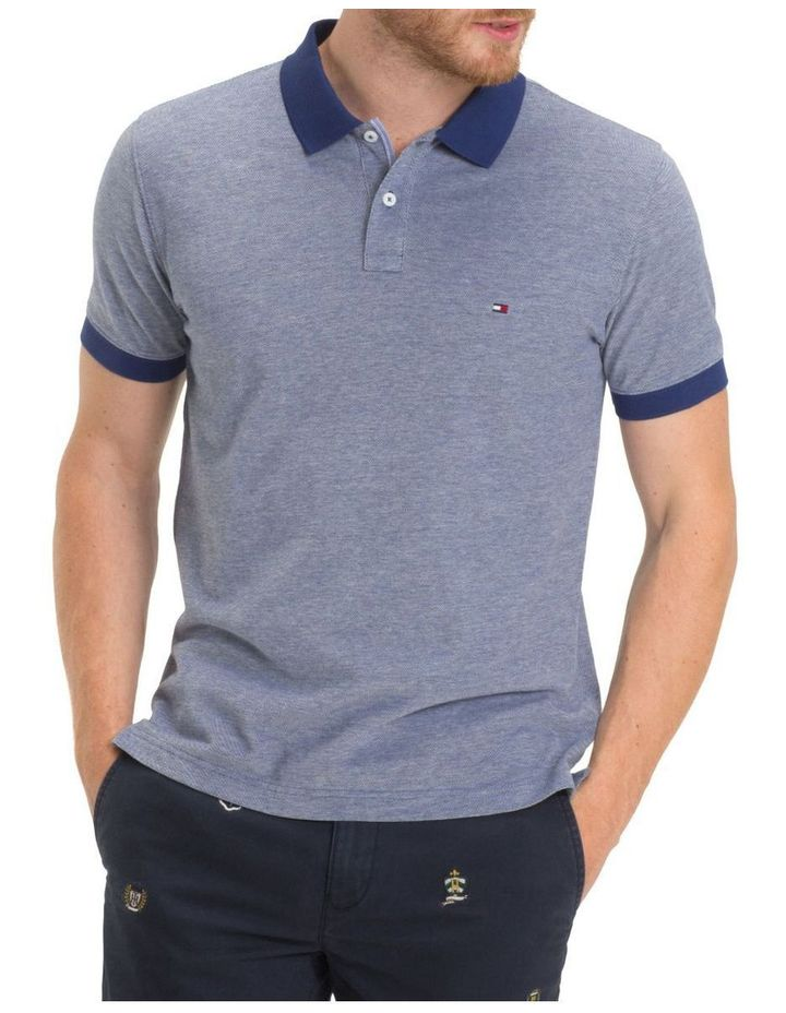 Essential Contrast Oxford Short Sleeve Polo image 1 a7d8d6e604