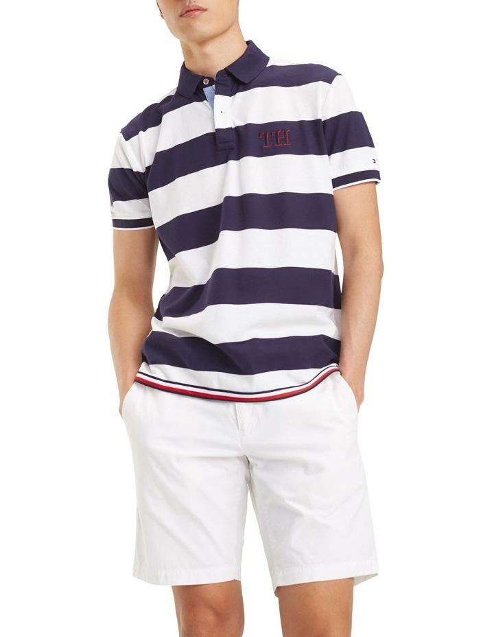 Striped Hem Detail Regular Polo image 1