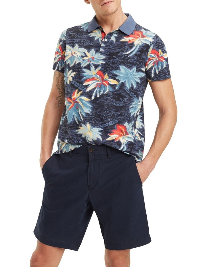 Allover Flower Print Slim Polo image 1