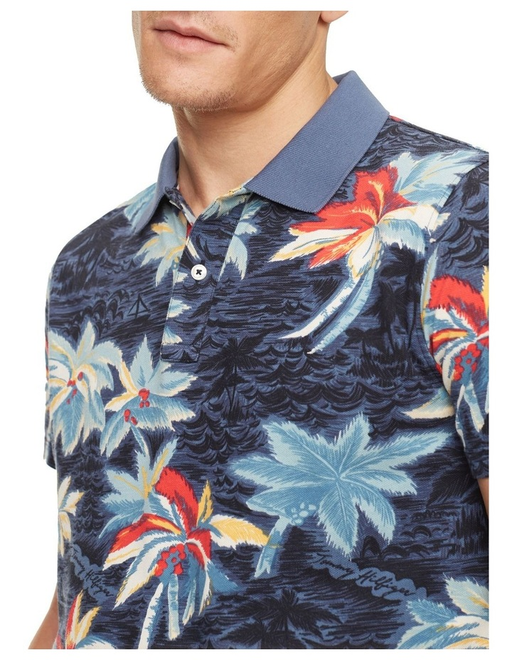 Allover Flower Print Slim Polo image 3