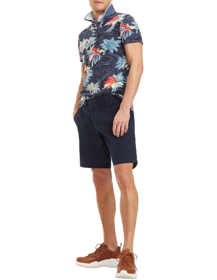 Allover Flower Print Slim Polo image 4