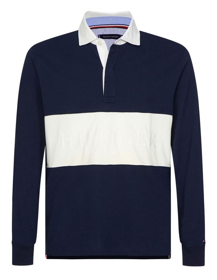 Colour-Blocked Rugby Polo image 2