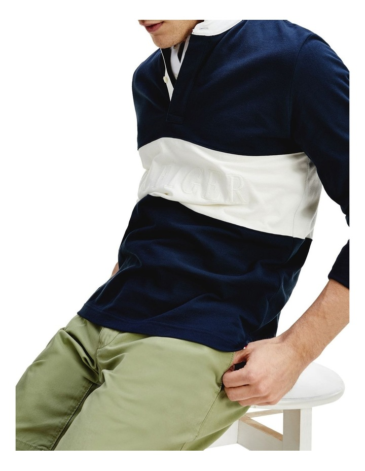 Colour-Blocked Rugby Polo image 3