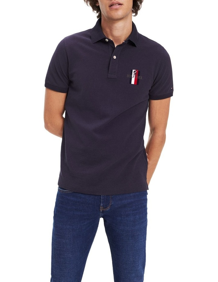 Embroidered Pure Cotton Slim Fit Polo image 1