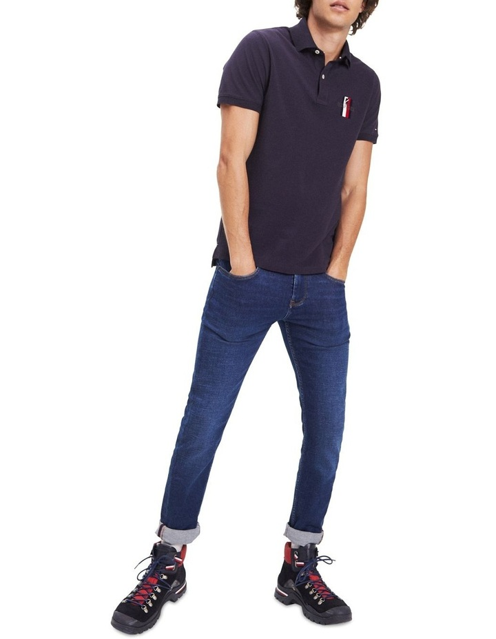 Embroidered Pure Cotton Slim Fit Polo image 2